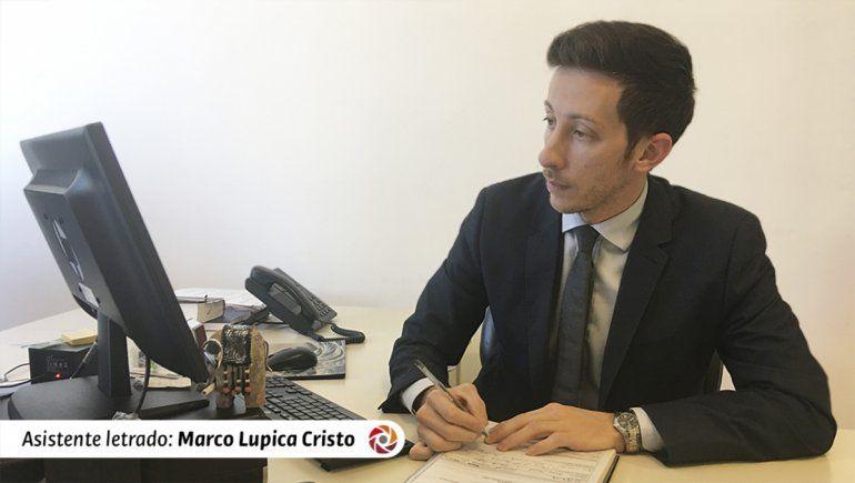 El asistente letrado Marco Lupica Cristo fue el encargado de impulsar la acusación contra el violento.