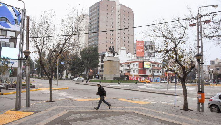 Galería: el clima no ayudó en el Día del Padre y la ciudad se vio vacía