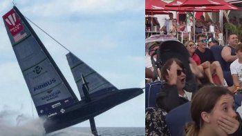 como un avion: el increible accidente de una embarcacion en plena competencia