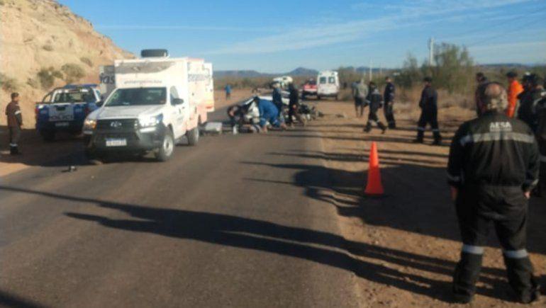 El fatal choque frontal tuvo lugar en cercanías a Rincón de los Sauces.
