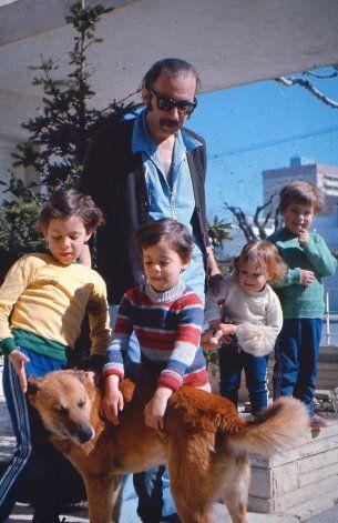 Horacio Heller e hijos.