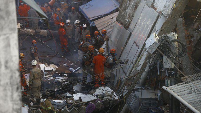 Un derrumbe fatal en una favela de Río de Janeiro