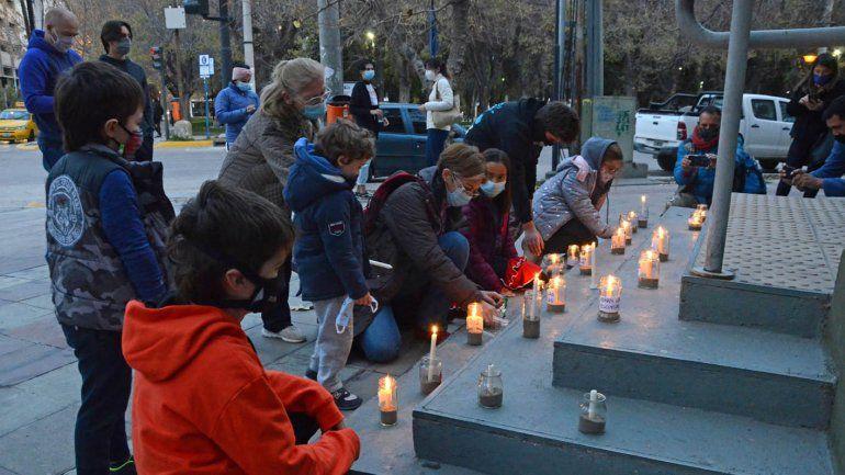 Prendieron velas para que vuelvan las clases presenciales