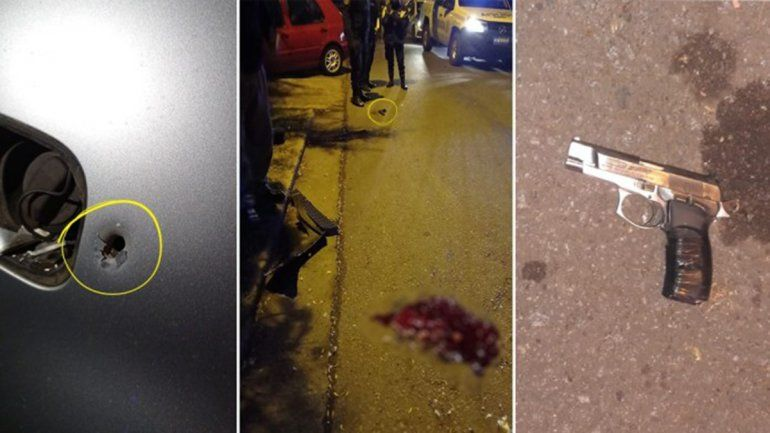 Un agente abatió a un ladrón y a otro lo dejó con muerte cerebral