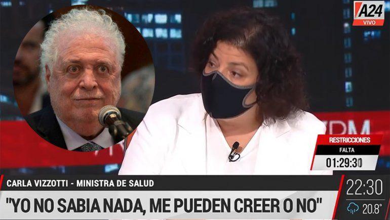 Vizzotti confirmó que Ginés González García ordenó vacunar a Duhalde en su casa