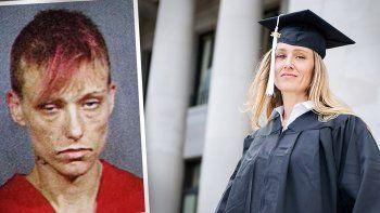 de muy adicta a la heroina a graduada universitaria