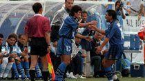 Ortega con Diego en la selección.