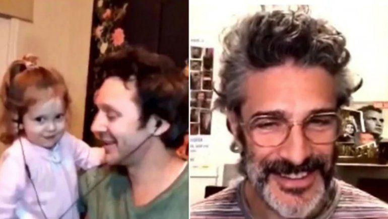 El tierno e incómodo momento de Vicuña con su hija en un vivo con Leo Sbaraglia