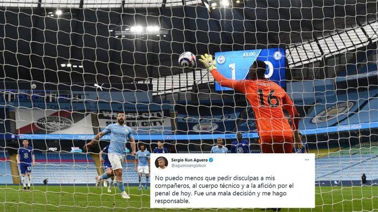 Agüero pidió disculpas destrozado, Guardiola lo perdonó pero no zafó de los memes