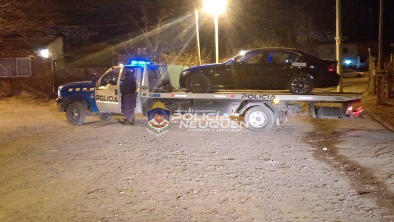 Borracho al volante: circulaba en un BMW, se resistió y terminó detenido
