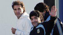 Ruggeri con Maradona en tiempos felices.