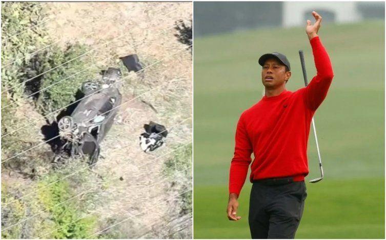 Drama: Tiger Woods sufrió un grave accidente