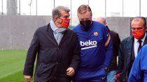 crisis en barcelona: laporta la respondio a koeman