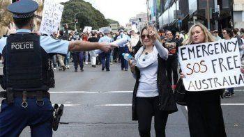 australia condena a los manifestantes contra el bloqueo