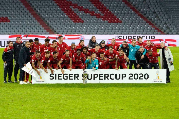 El Bayern Münich ganó la Supercopa y está a un título de igualar al Barsa