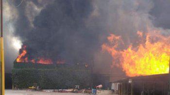 Así se veía incendio desde el aire