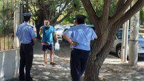 amenazo con prenderse fuego frente a ciudad judicial