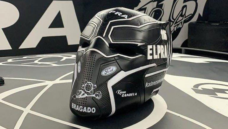 El llamativo casco que apareció en los boxes del TC en San Nicolás