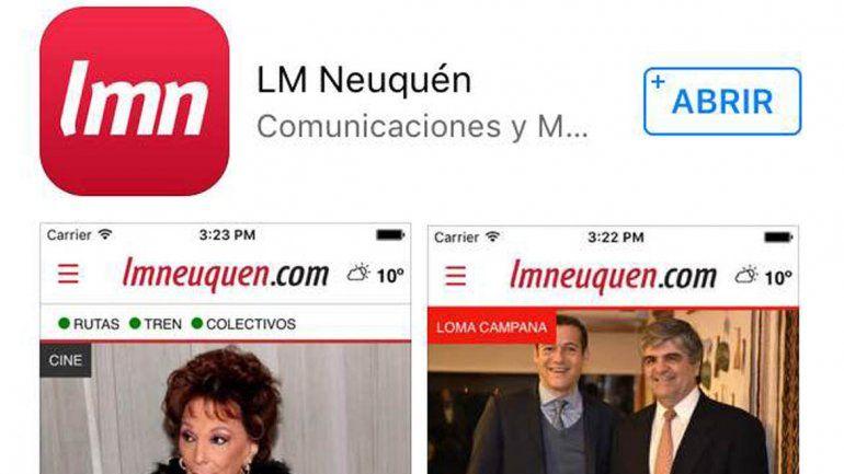 La app de LM Neuquén la podés bajar sin cargo desde iTunes.