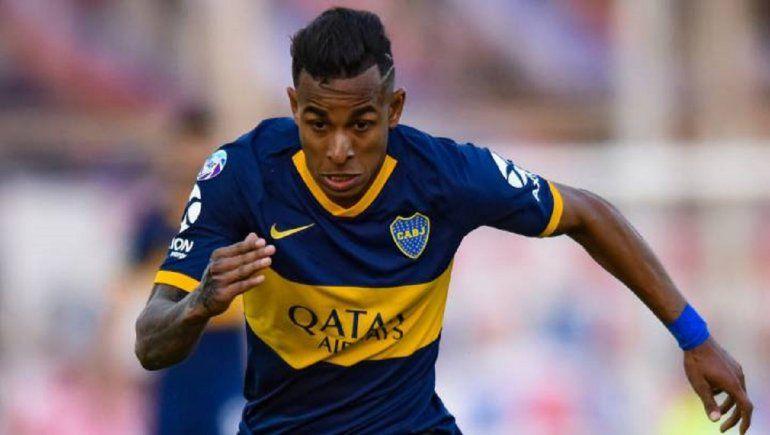 Sebastián Villa, delantero de Boca.