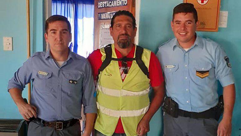 Sergio el 24, un faro de luz para los policías contagiados de COVID
