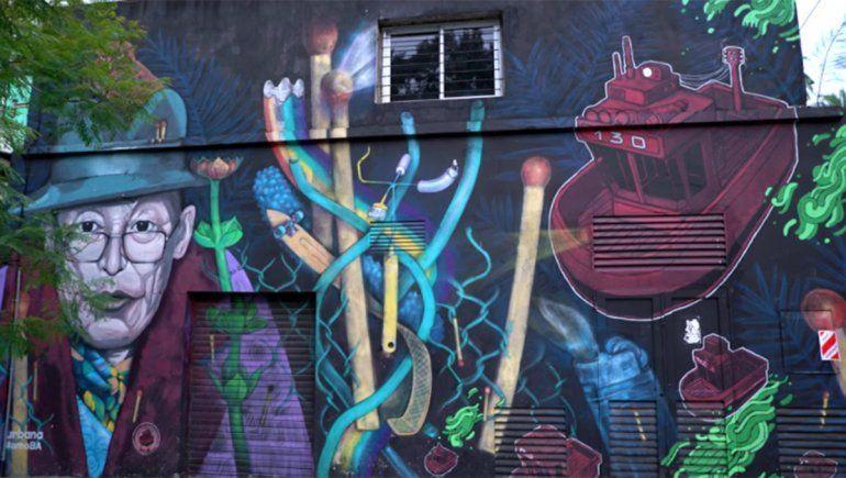Mural en el barrio de Belgrano.