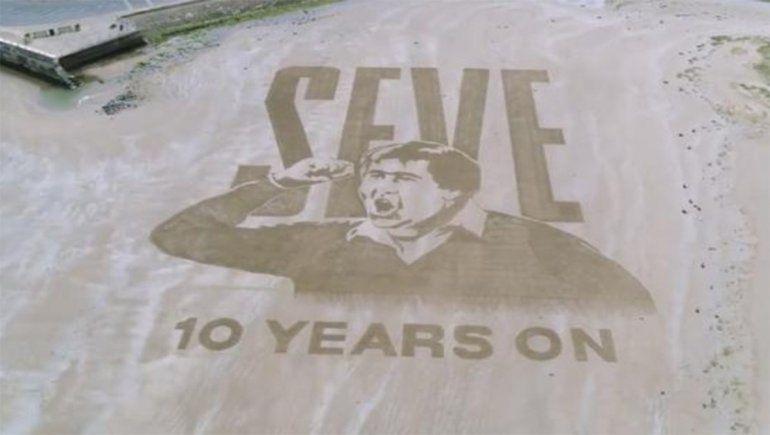 Mirá la espectacular obra en la playa para homenajear a Severiano Ballesteros