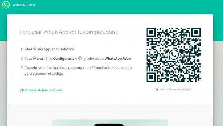 Así luce WhatsApp Web antes de iniciar sesión con tu teléfono celular