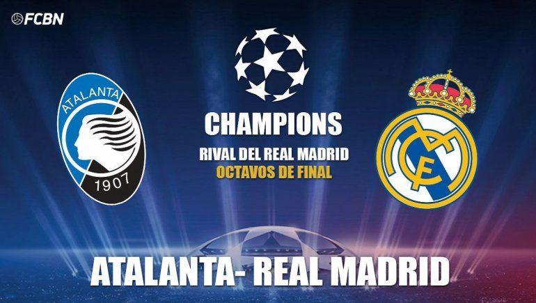 Atalanta vs Real Madrid en UEFA Champions League.