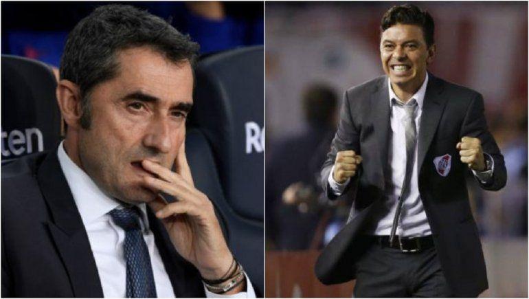 Los rumores sobre Marcelo Gallardo (River) con el Barcelona, empezaron durante la gestión de Valverde.