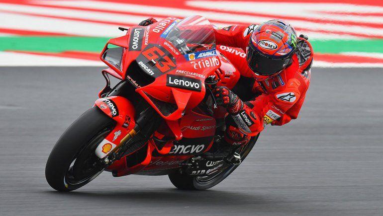 Francesco Bagnaia dominó la clasificación del MotoGP en San Marino