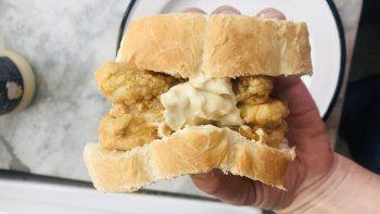 receta: sandwich de rabas o bocata de calamares