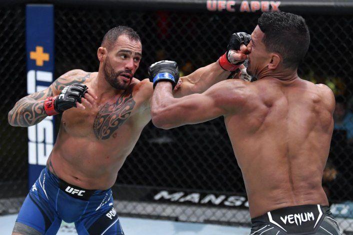 UFC: Fue una guerra y el argentino Ponzinibbio demolió a un invicto en Las Vegas