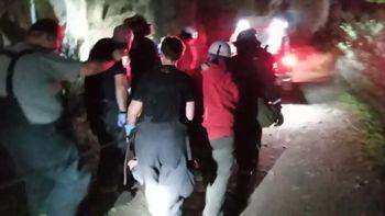 Un joven ciclista debió ser rescatado de un cerro en San Martín