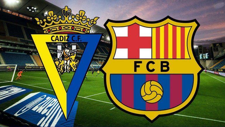 Barcelona vs Cádiz por la Liga de España