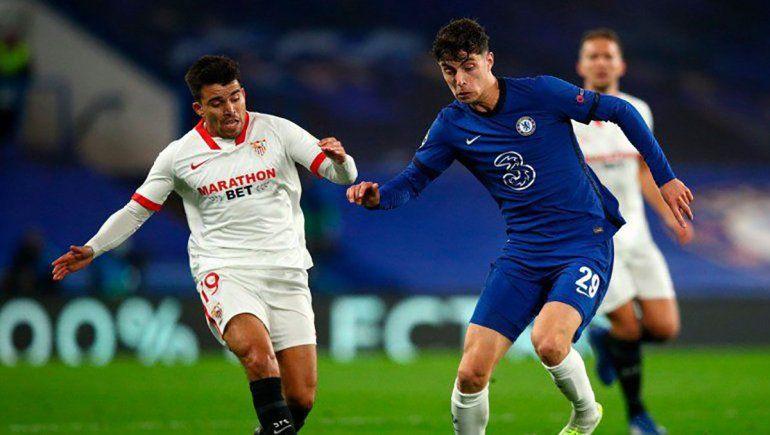Marcos Acuña y el Sevilla se medirán ante el Salzburgo por la primera fecha del Grupo G de la Champions League.