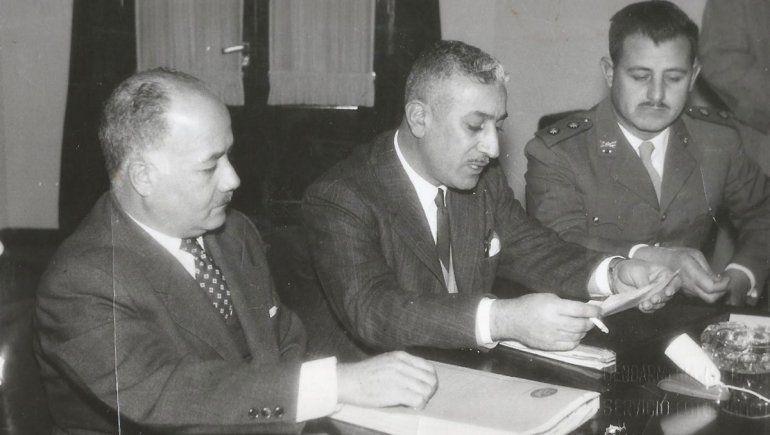 Isaac Afione y gobernador Alfredo Asmar.