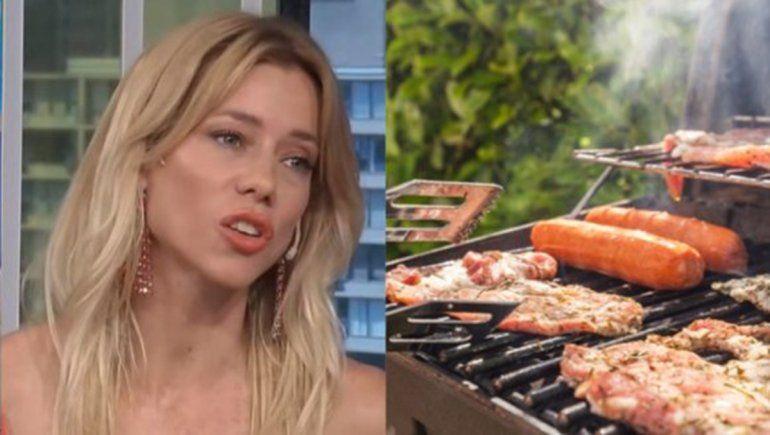 Nicole se angustió al ver una parrilla llena de carne