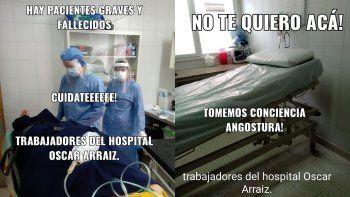 Con una campaña, el personal de salud de Villa La Angostura pide conciencia