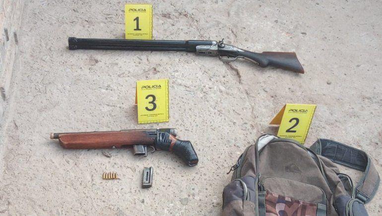 La Policía secuestró armas en un allanamiento realizado en una vivienda