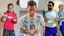 al ritmo de los totora, messi se sumo al bailecito de los olimpicos argentinos