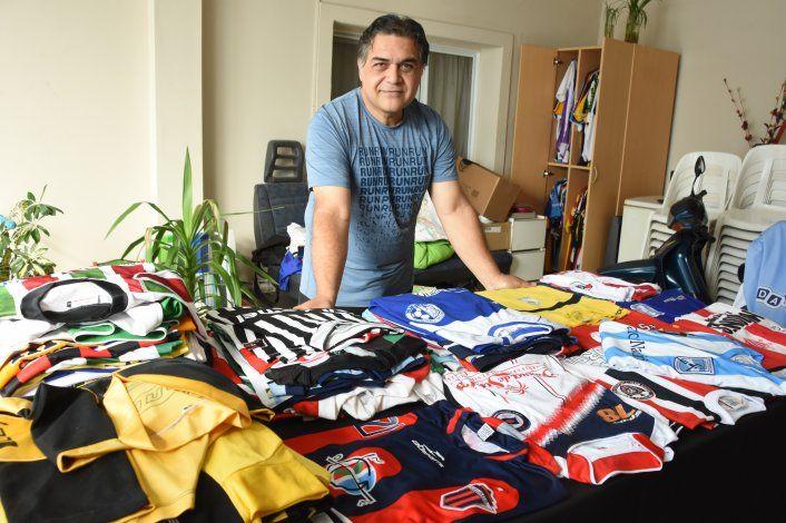 La historia de una pasión por las camisetas de fútbol