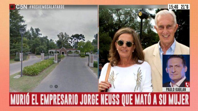 El arma homicida fue encontrada junto al cuerpo del empresario Jorge Neuss, quien murió luego en el hospital.