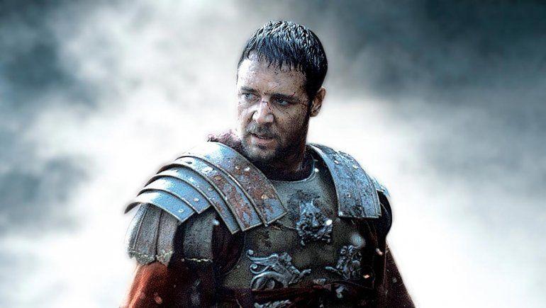 Russell Crowe reveló una segunda parte de Gladiador