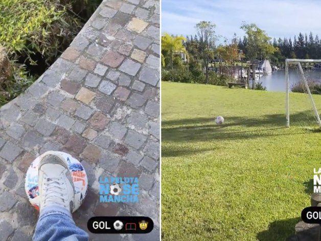 Daniel Osvaldo desde la casa de Gianinna: La pelota no se mancha