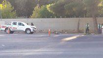 un ciclista resulto herido en un choque con una camioneta municipal