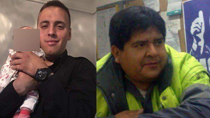 Las dos víctimas fatales. Un policía de 28 años y un barrendero.