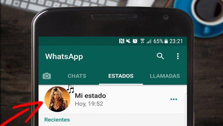 Así podés colocar música en tus estados de WhatsApp. | Foto cortesía.