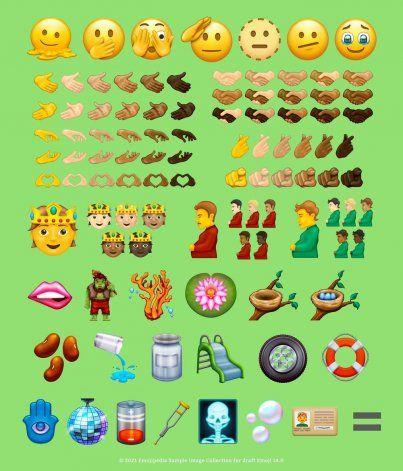 Candidatos de emojis.   Foto: Emojipedia.