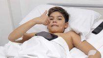 de un golpe tonto a la fractura y el tumor: operaron al nene que moviliza a alianza